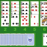 Crystal Golf Solitaire Flash Game 1