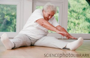 Exercise and Fitness Tips for Seniors - elderly woman stretching