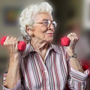 Exercise and Fitness Tips for Seniors - exercising arms