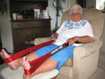 Exercise and Fitness Tips for Seniors - seated elderly stretching