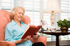 Indoor Activities for Seniors - Senior Reading at Home