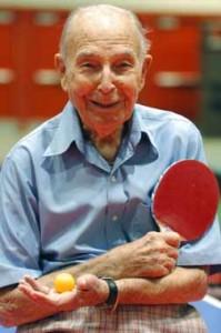 NSGA Senior Olympics, John @ table tennis