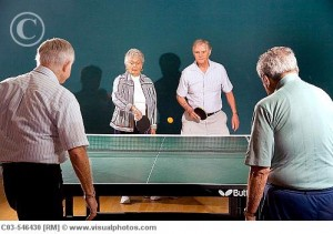 Indoor Ping Pong Table Tennis for Seniors - Group Activity