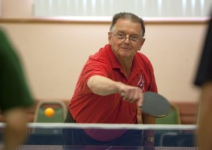 Indoor Ping Pong Table Tennis for Seniors - Senior Man Playing