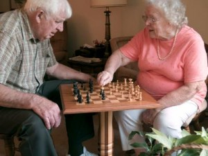 Chess Brain Game for Seniors Seniors playing chess