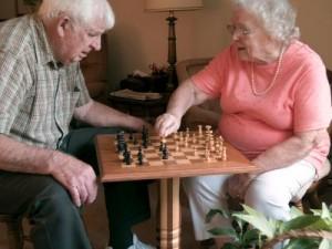 Chess Brain Game for Seniors Seniors playing chess