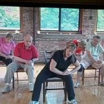 Seated Lower Back Stretching Exercise for Seniors