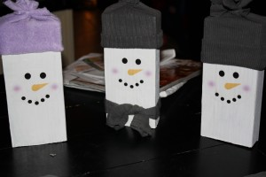 Wood Crafts - Scrap Snowmen