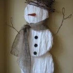 Winter Crafts For Seniors – Yarn Snowman