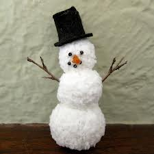 Winter Crafts - Yarn Snowman