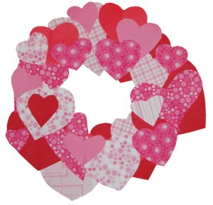 Wreath of Hearts - Valentine's Day Crafts For Seniors